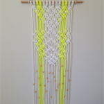 Modern Macrame Wall Hanging (Knotted Rope, Wall Art, Retro, Home Decor, Unique)