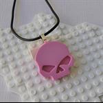 SKULL CANDY - cool skull pendant handmade in fluro pink resin