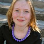 Resin bead necklace - purple