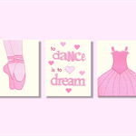 Ballet wall art - Dance wall art - Set of three 8x10 stitched paper prints