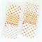 Gold Glitter Coasters - 6 Ceramic Tile Drink Coasters Crosses Chevron Spots