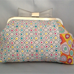Sarah Fielke Handmade Fabric Clutch Purse Bag
