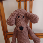 Big Ted: crocheted, plush, chenille, super soft toy bear, brown colour, unisex