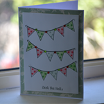 Deck the Halls Christmas Banner Card