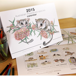 2015 Wall Art Calendar - Australian threatened species - wildlife animals birds