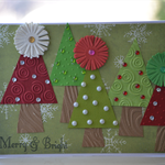 Merry & Bright Christmas Tree Card