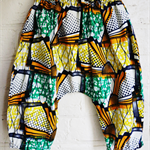 Bright African Fabric Baggy Bum Pants