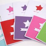 Handmade Christmas Card - Pack of 10 Bright Stars