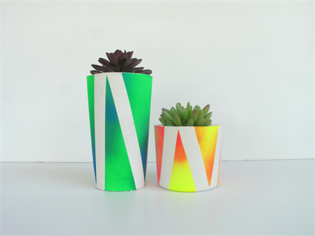 Concrete Duo - Succulent Planter Set - Urban Decor