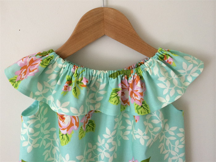 Pretty Girls Dress Size 3 Heather Bailey Fabric Tiny Townships
