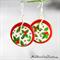 Christmas - Holly -  Drop Dangle Earrings - Hook