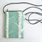 Small crossbody phone purse. Long adjustable strap. Birch tree screen print