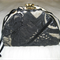 Black and Gold Crazy Patch Evening Bag