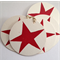 Christmas star linocut letterpress gift tags , pack of 5