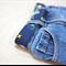 Child's belt - 'space' / navy stars planets designer fabric / boy 4-8 years