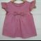 Gingham blouse - girls top, red gingham, smocking, sizes 2-6