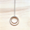 MEDIUM SIMPLE SILVER CIRCLES TWO CIRCLES PENDANT NECKLACE - FREE SHIPPING