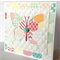 Butterfly quilted hexagon kaleidescope of colour with resin flower blank card