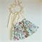 Country Rose button skirt - custom size 1-4