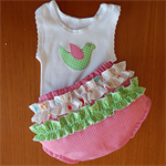 Nappy pants with singlet sizes  000 to 2