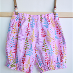 Girls Pink Christmas Bloomer Shorts
