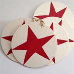 Christmas star linocut letterpress gift tags , pack of 5