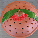 Mosquito Coil Holder with built in stand, Red Flowering Gum Design