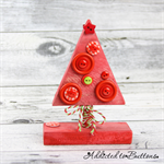 Button Tree - Wooden Christmas Tree decorated with Buttons (small)