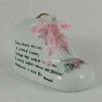 Personalised Baby Shoe  Porcelain Keepsake