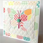 Blank butterfly quilted card