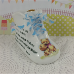 Personalised Baby Shoe  Porcelain Keepsake, New Baby Boy or Christening