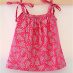 Girls Pink and Silver Christmas Pillowcase Dress