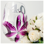 40th Birthday - Red Wine, White Wine or Champagne Flute Glass - Bridal Daisy