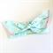 Knot Bow head wrap - Floral Arrow Print Fabric - Pink Peach Aqua Gold