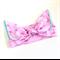 Knot Bow head wrap - Flamingo Print - Pink - Aqua - Tropical - Summer