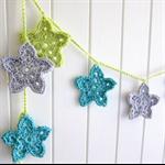 Christmas Stars | crochet garland bunting | festive decoration