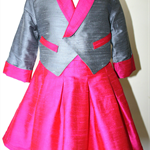 Girls handmade jacket size 2 silk