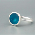 Teal Blue Resin Ring