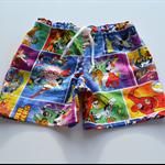 Super Heroes boys' shorts. size 4 multi coloured, side pockets, drawstring