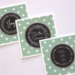 3 Pack Christmas Cards - Chalkboard, Wreath, Polka Dots and Silver Glitter