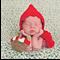 Little Red Riding Hood For Newborn Halloween Photo Prop