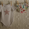 Christmas short sleeve bodysuit and nappy cover set size 0000-0