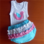Nappy Pants and Singlet Set  -  000-2