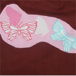 Butterflies: art smock for 5 - 8 year old. M23b.