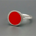Bright Orange Resin Ring