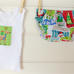 Size 0-3 months babies' 'Jolly Santa' Christmas design nappy cover set