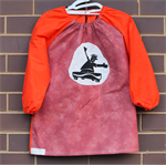 Art smock for 5 - 8 year old, Skateboard.