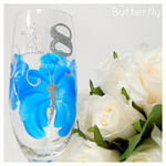 18th Birthday - Red Wine, White Wine or Champagne Glass - Butterfly