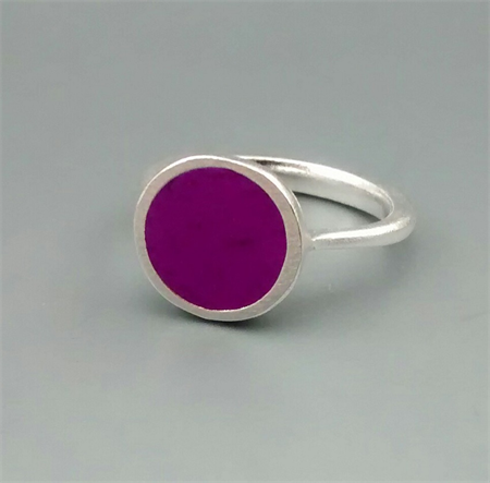 Royal Purple Resin Ring