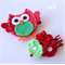 Christmas Hayley Hoot Clips, cute owl